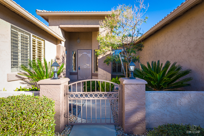 Gated Entry Area to a Home in Arizona